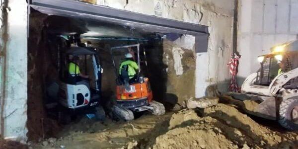 Trabajos en parking subterráneo